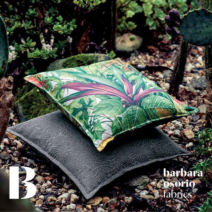 Equador collection 2015 by barbara osorio fabrics - B101 Omali; B106 Príncipe printed linen