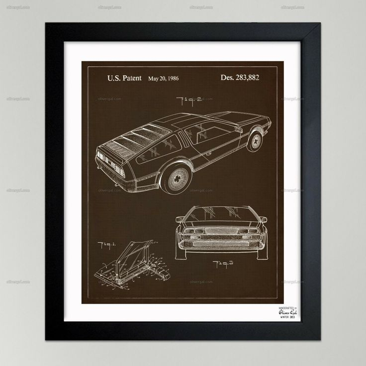57 best blueprints images on pinterest oliver gal art framed delorean 1986 the oliver gal artist co malvernweather Images