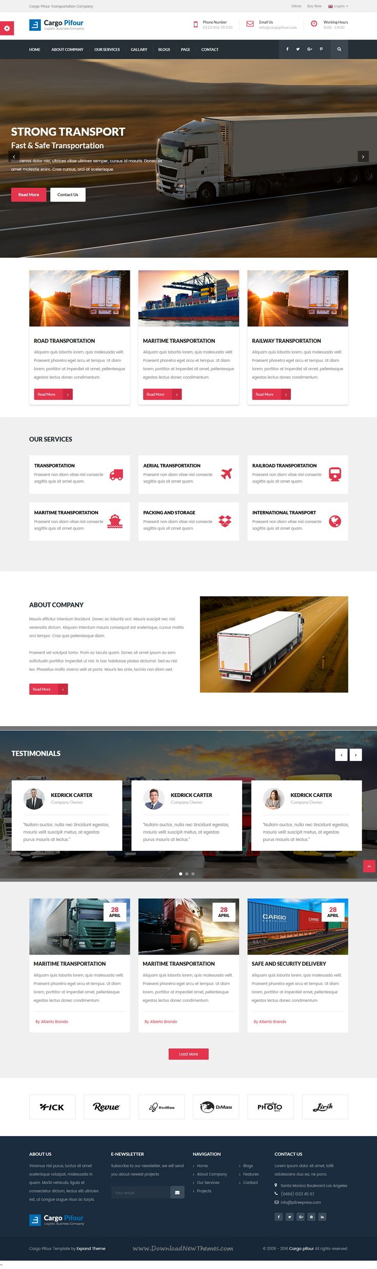 Cargo Pifour is wonderful Bootstrap HTML5 template for #logistics, #transportation, #trucking, and cargo companies website. Download Now!