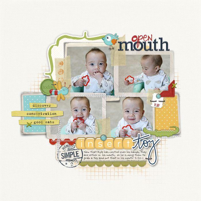 Open Mouth ... Insert Toy. Cute embellishing!: Digitals Inspiration, Deguia Digital, Journaling Scrapbook, Scrapbook Inspiration, Digital Scrapbook, Scrapbook Layout, Digital Projects, Digital Designer