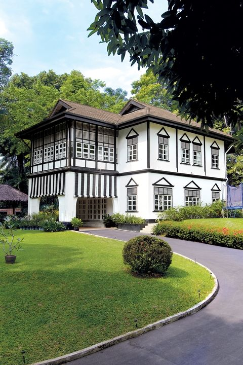 Black and White House, Singapore.  Black & White bungalows are heritage homes belonging to the state, but today they are rented out as homes.