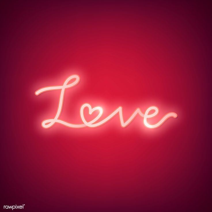 Neon Light Love Word On Red Background Free Image By Rawpixel Com Ningzk V Typography Design Quotes App Background Typography Card