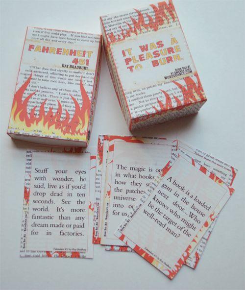 Words Dance: Words Dance Book Box #1 : Fahrenheit 451 by Ray Bradbury