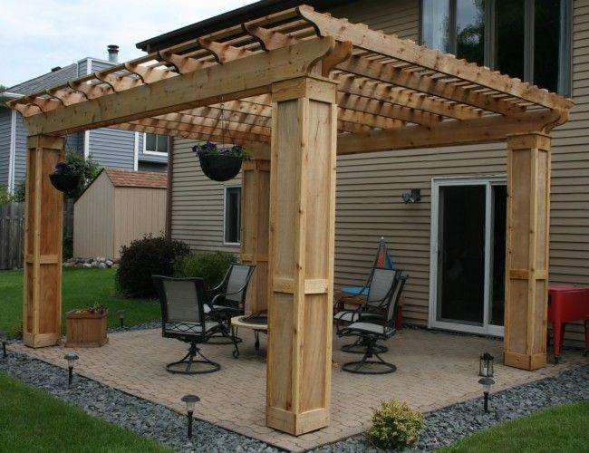1000 ideas about pergola roof on pinterest pergola - Bases para pergolas ...