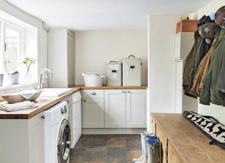 Country utility room with boot and coat storage