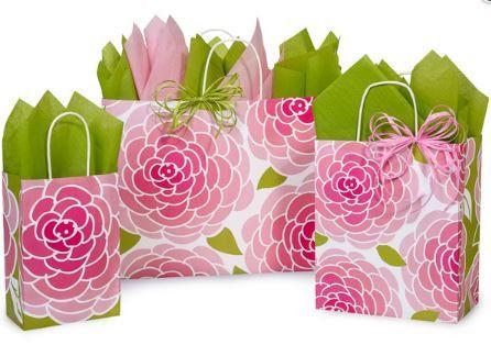Rose Blossom Shopping Bags – B2BWraps.com