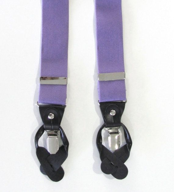 Mens Suspender Violet Purple Combination Suspender by TieObsessed