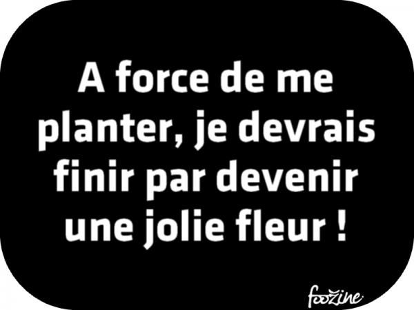 A force de me planter