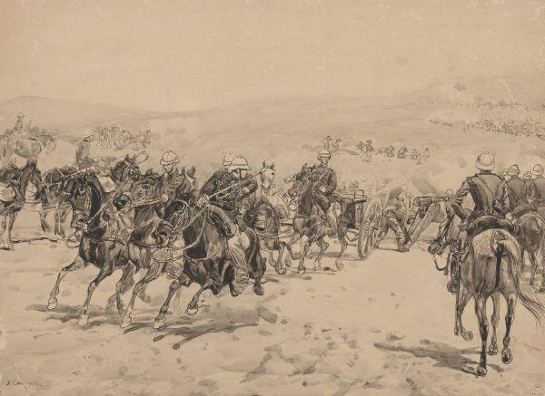 Pole bitwy kolonialnej - Józef Chełmoński