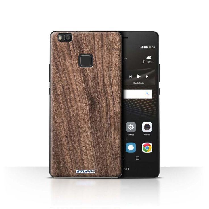 STUFF4 Case/Cover for Huawei P9 Lite/Wood Grain Effect/Pattern/Walnut