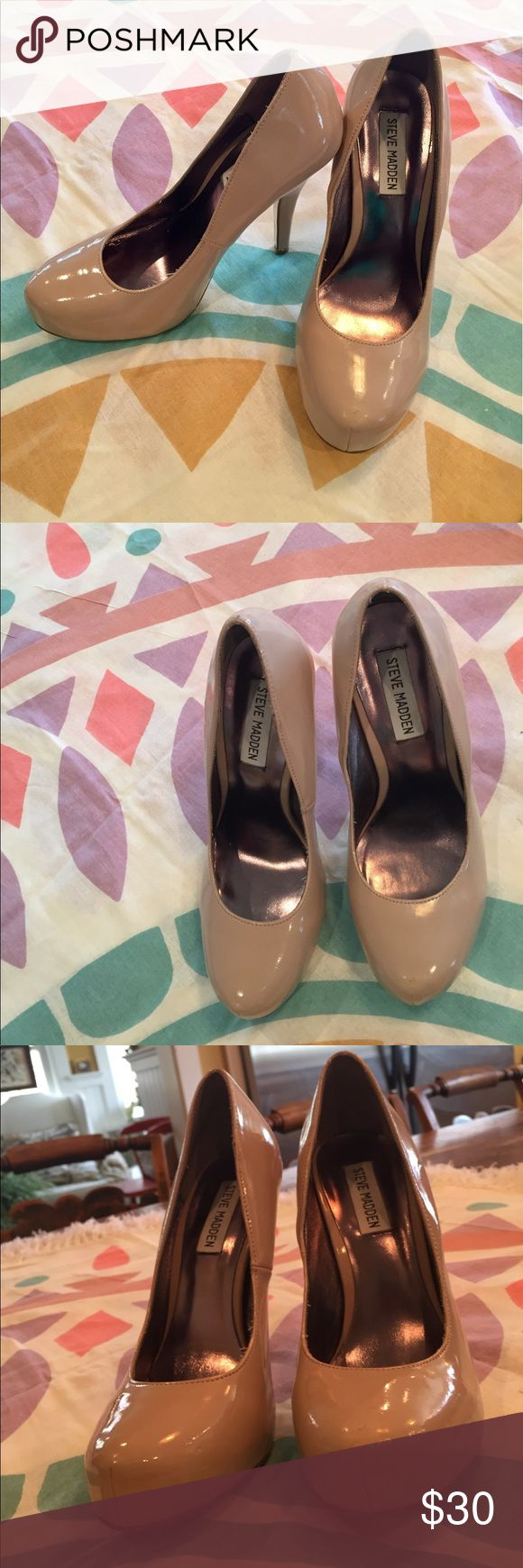 Steve Madden Nude High Heels Steve Madden size 7.5 Nude high heels                                                    Feel free to ask questions! Steven by Steve Madden Shoes Heels
