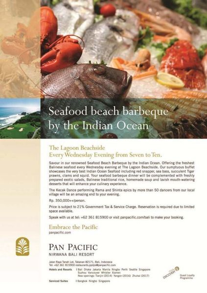 Offering the freshest #Balinese #seafood & premium meats at our Lagoon Beachside #PanPacificBali #Bali #Dinner #Event