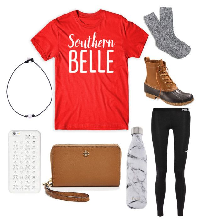 """""""Southern belle❤️"""" by preppy-lilly-girl on Polyvore featuring L.L.Bean, J.Crew, NIKE, S'well, MICHAEL Michael Kors and Tory Burch"""