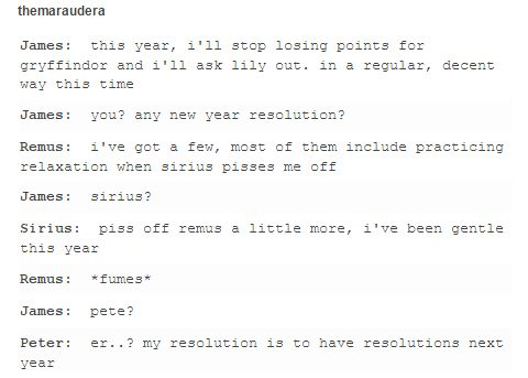 The Marauders - The New Year resolutions