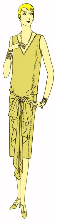 Past Patterns: #2125: Slip-Over, One-Piece Frock Documented to 1926 Reproduction pattern