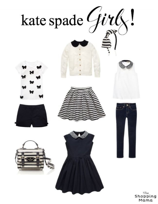 New Kate Spade Kids and We're Obsessed   black and white pint-sized chic