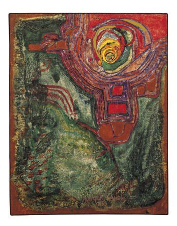 Paintings - Hundertwasser LE TEMPLE DU CIEL  1958
