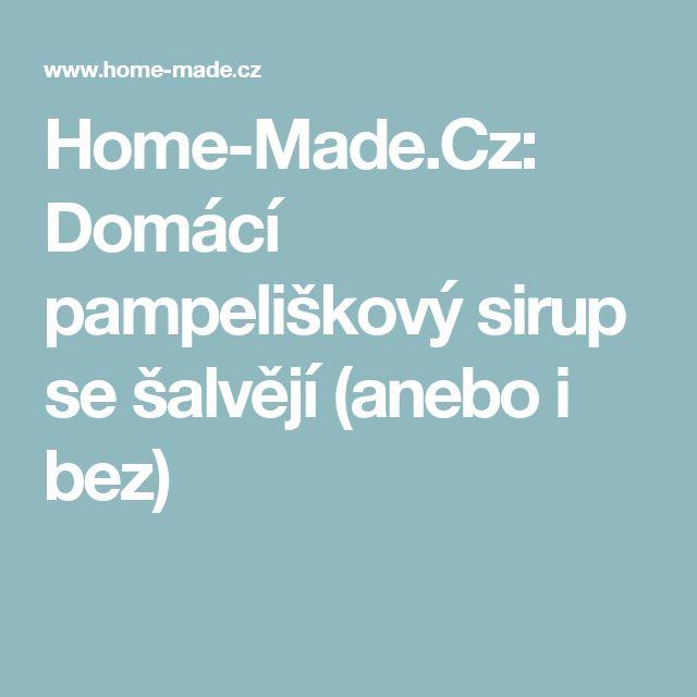 Home-Made.Cz: Domácí pampeliškový sirup se šalvějí (anebo i bez)