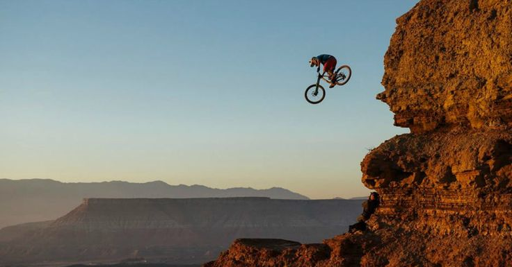 Check out the insane footage from the Red Bull Rampage mountain bike event