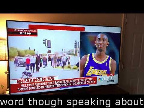 #Videos  - MSNBC Reporter unintentionally claims the N word although conversing about Kobe Bryant