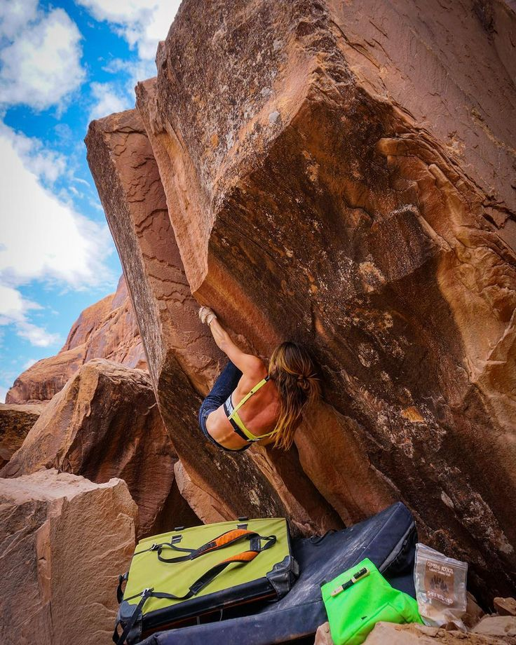 Instagram Photo by Mercadi Carlson: Climbing in Moab  (@mersendyclimberson) | WEBSTAGRAM