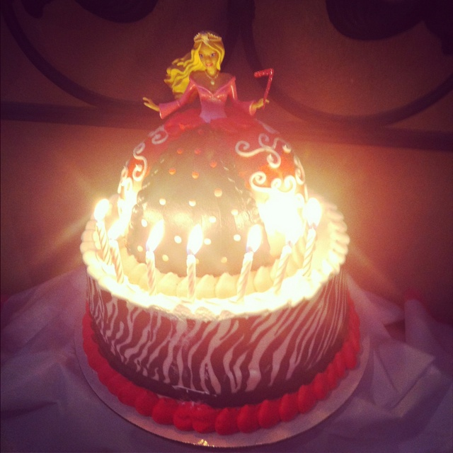 My daughters barbie silhouette and zebra bday cake!! It s ...