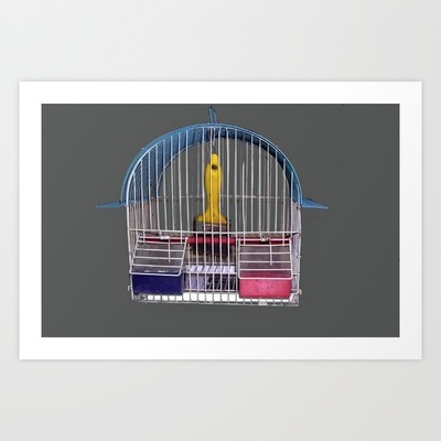 arte in gabbia Art Print by Francesco Mestria - $12.48