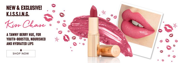 NEW! FIRST DATE COLLECTION SETS WITH NEW  LIPSTICK SHADES,  this being Kiss Chase, and there are two DATE Collection looks/products to go with them. What could be better for Valentine's Day?! Charlotte Tilbury Official Site : Makeup & Skincare | Charlotte Tilbury