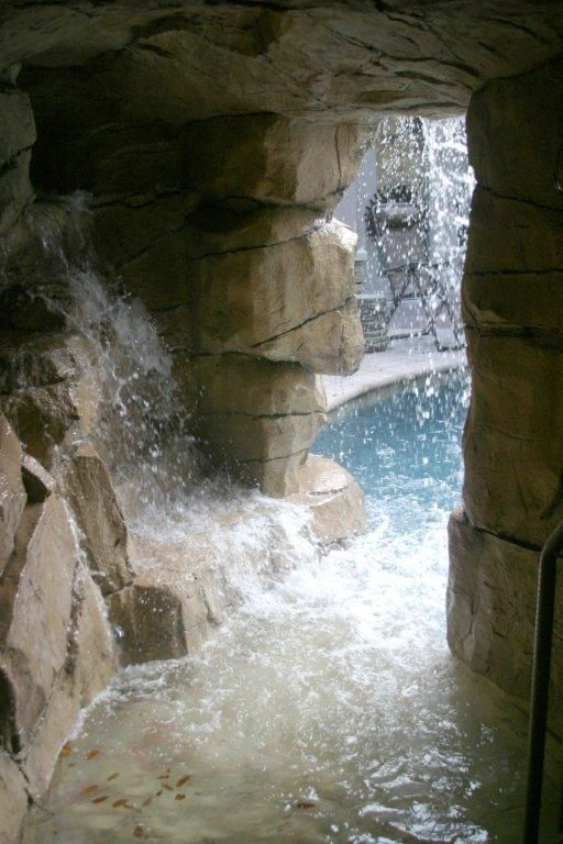 Faux Gratto Spa Cave Real And Faux Rock Waterfalls