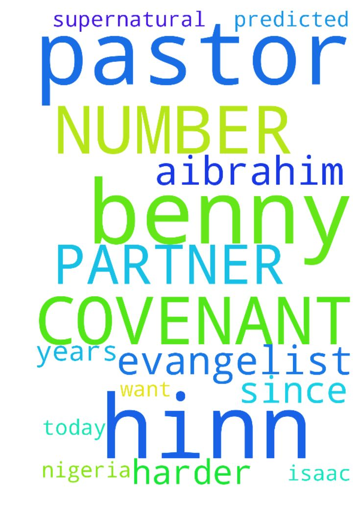 ITS ME PASTOR BENNY HINN COVENANT PARTNER NUMBER 12902859.1 - ITS ME PASTOR BENNY HINN COVENANT PARTNER NUMBER 12902859.1 IN NIGERIA EVANGELIST ISAAC A.IBRAHIM. I WANT US TO PRAY HARDER FOR ITS ABOUT 9 YEARS TODAY SINCE 2009 THAT PASTOR BENNY HINN PREDICTED SUPERNATURAL  Posted at: https://prayerrequest.com/t/BMQ #pray #prayer #request #prayerrequest
