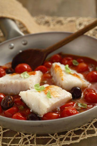 #Baccalà   ai  #pomodorini #Cirio, gusta la nostra #ricetta. #cod #tomatoes #seafood #recipe #fish #secondopiatto