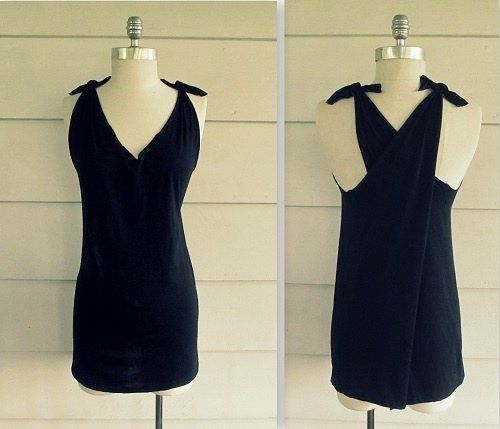 No-Sew Criss-Cross Back Shirt | Community Post: 27 Awesomely Cheap Ways To Transform A T-Shirt
