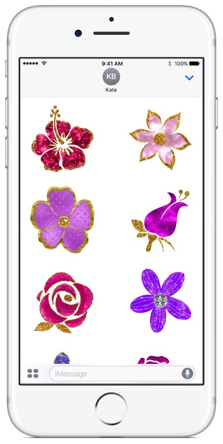 Bedazzled Flowers sticker pack available on the App Store. #flowers #stickerpacks #stickers