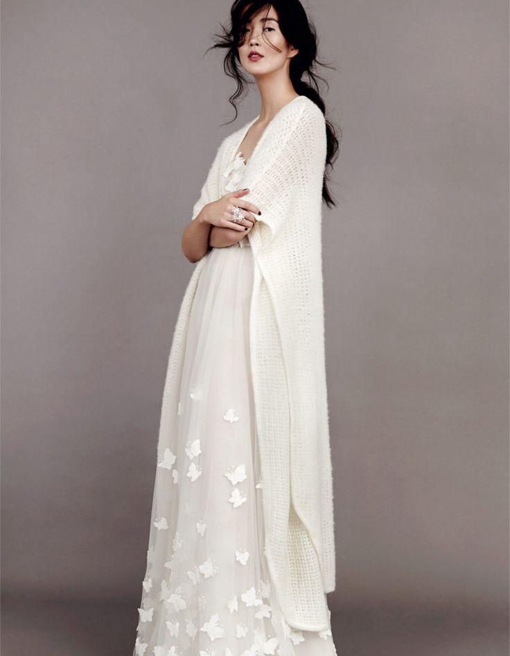 Robe de mariée dhiver avec cardigan - 22 robes de mariée d'hiver ...
