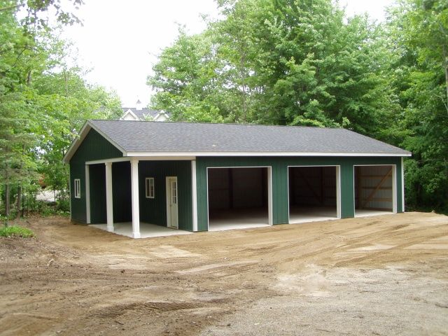 144 best images about want to build on pinterest sheds for Pole barn with porch