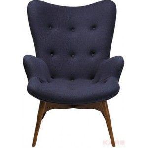 Ik vond dit op Beslist.nl: Angels wings armchair - kare design Antraciet}