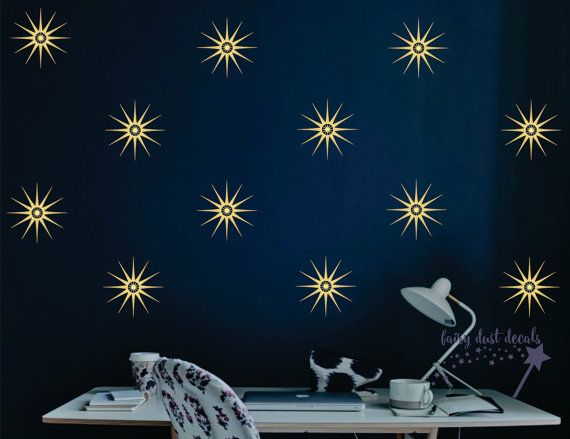 Best  Sun Moon Stars  Clouds Wall Decals Images On Pinterest - Nursery wall decals stars