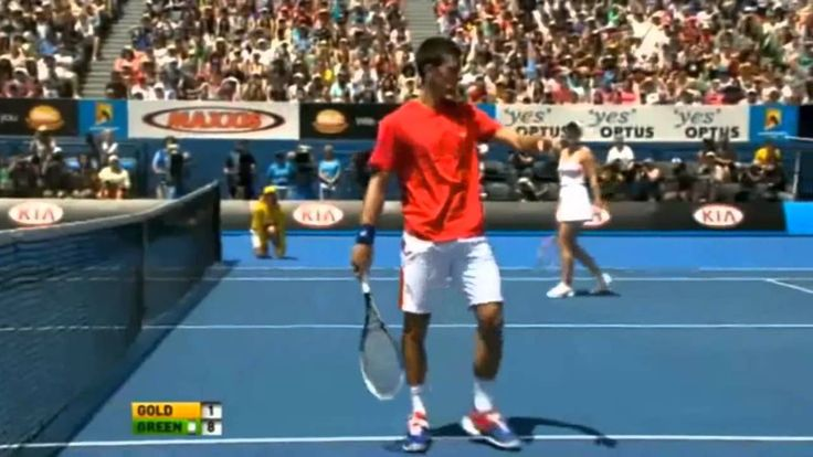 "Novak Djokovic ""The Comedian"""