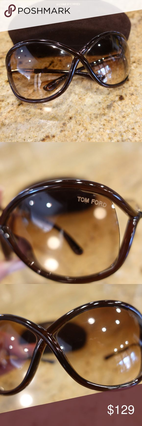 """Tom Ford Whitney Sunglasses """"Open Side"""" Gorgeous Brown Whitney Open Side  Tom Ford Sunglassses.  Style TF9 692 64 14 110  These are pre-owned but in great condition.  Have case as well Tom Ford Accessories Sunglasses"""