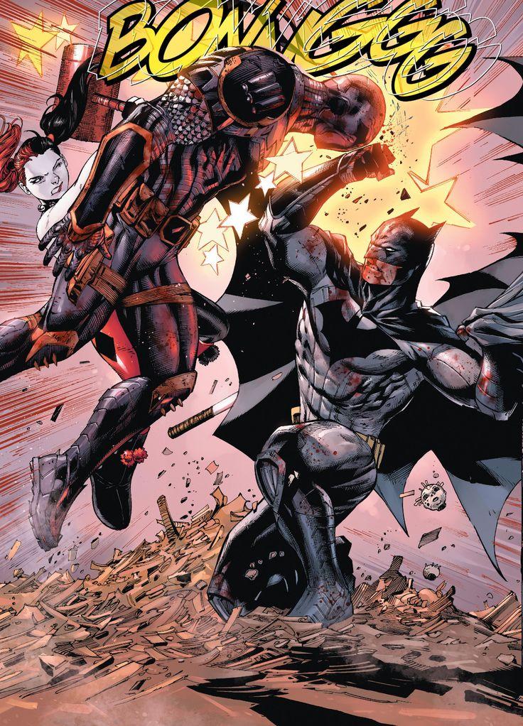 "kamisamafr: ""Batman, Deathstroke & Harley Quinn by Tony S. Daniel """