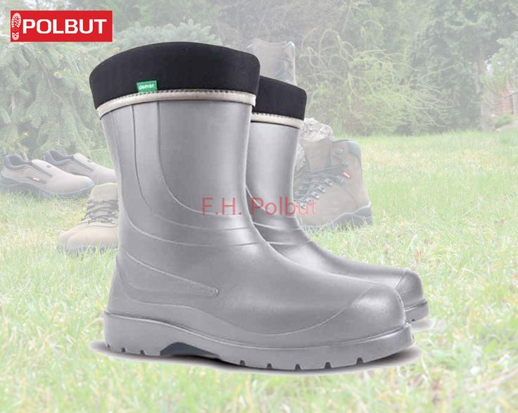 Great silver #wellington #boot for #women's , in warm fiber inside. #Insulation up to -30C !, great for winter walking.