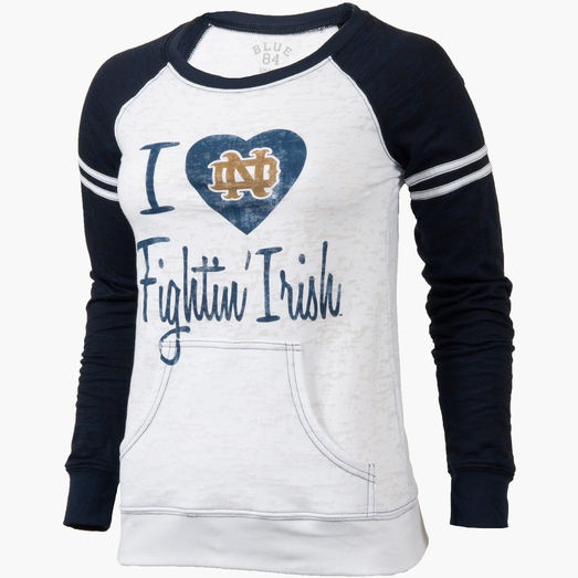 $45 Womens Notre Dame Fighting Irish Burnout Shirt. This is cute!