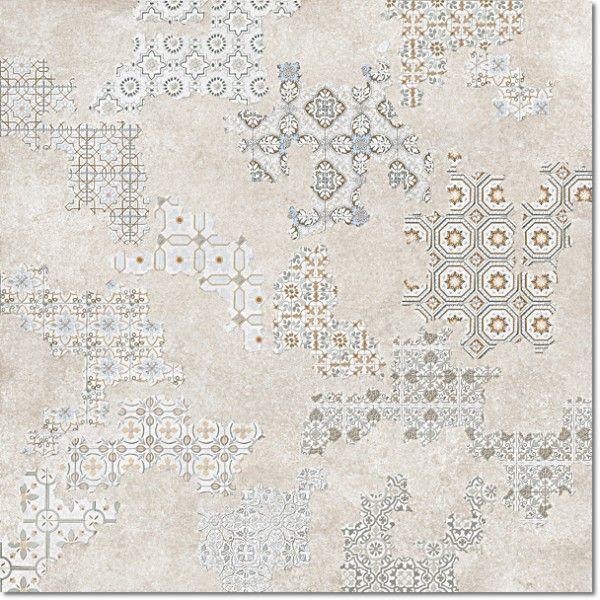 Kolekcja Cover - płytki podłogowe Dec. Cover Taupe Nat. Rett. 60x60