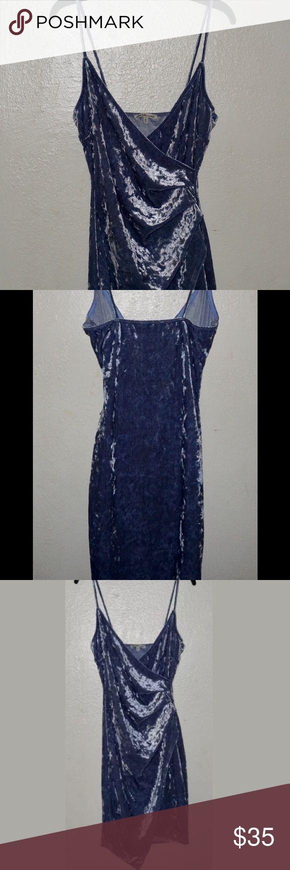 Kylie Jenner look alike dress in velvet blue . Charlotte Russe Dresses Mini