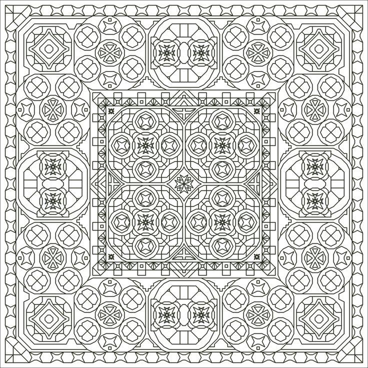 Gee Whiz Three Back Stitch Blackwork-Style Pattern Instant