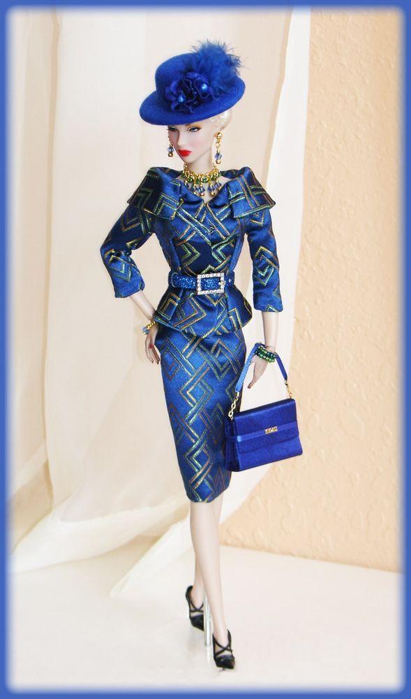 OOAK Fashions for Silkstone / Vintage barbie / Fashion Royalty -- Brocade silk
