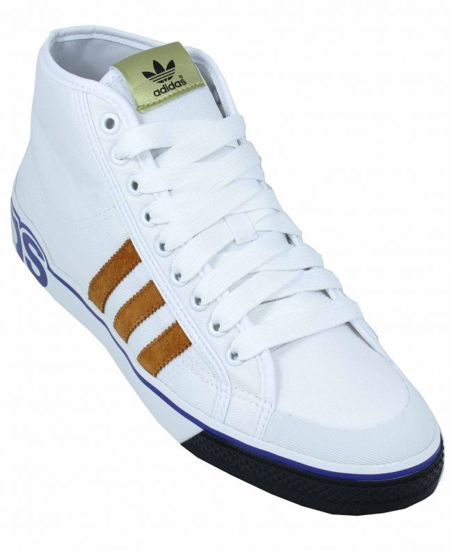 Adidas Trainers Mens Nizza White XL Canvas