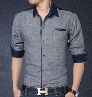 Men's Button Down with Anchor Print