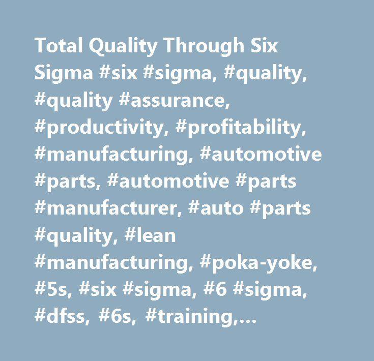 Total Quality Through Six Sigma #six #sigma, #quality, #quality #assurance, #productivity, #profitability, #manufacturing, #automotive #parts, #automotive #parts #manufacturer, #auto #parts #quality, #lean #manufacturing, #poka-yoke, #5s, #six #sigma, #6 #sigma, #dfss, #6s, #training, #seminars, #project #management…