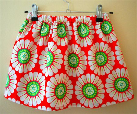 christmas festive floral red  girls skirt size 1